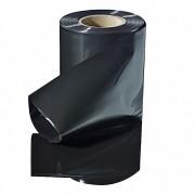 Schlauchfolie   50mm breit, 100my, opak - blickdicht, schwarz, 250 lfm.