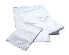 Folienzuschnitte HDPE geblockt transparent 480 x 720 + 30mm,  200 Stk.