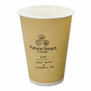 Huhtamaki BIO Automatenbecher Kaffeebecher Pappe Future Smart 180 ml,  100 Stk.