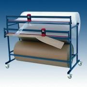 Doppelschneidständer für 2 Papier- u. Folienrollen, fahrbar, Schnittbreite 125cm