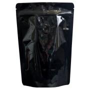 Standbodenbeutel Alu/PET schwarz mit Aromaschutzventil, 160x230x90mm, 500 Stk.