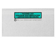 Dokumententaschen DIN Lang transparent aus Papier Lieferschein Rechnung  100Stk.