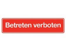 Hinweisschild selbstklebend rot Betreten verboten