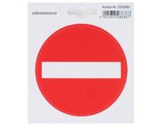 Aufkleber mit Symbol *Durchgang verboten*