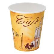 Kaffeebecher CoffeeToGo Pappbecher Design CAFE DE` PARIS  8oz 200 ml, 50 Stk.