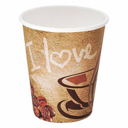 Kaffeebecher CoffeeToGo Pappbecher I LOVE COFFEE 8oz 200 ml, 50 Stk.