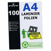 PAVO Laminierfolien A4, 216 x 303mm, 2x  75/80 mic, Hochglanz, 100 Stk.