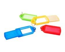 Schlüsselanhänger mit Schlüsselring groß verschiedene Farben 10 Stk.