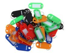 Schlüsselanhänger mit Schlüsselring verschiedene Farben 25 Stk.