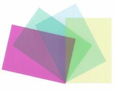 Deckblätter 0.30mm, A4, transparent violett matt, 100 Stk.