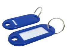 Schlüsselanhänger mit Schlüsselring und Einleger BLAU