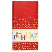 Tischdecke Tischtuch aus Papier 120 cm x 180 cm Geburtstag Happy Birthday lackiert