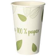BIO Heißgetränke Trinkbecher Coffee to Go unbeschichtet grün 300ml, 50 Stk.