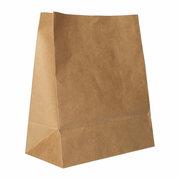 Blockbodenbeutel Papierbeutel Kraftpapier 22 x 18,5 x 9,7cm braun, 250 Stk.