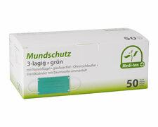 Mundschutzmasken OP- medizinische Gesichtsmasken 3-lagig EN 14683 grün 50 Stk.