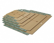 progressBOX Fixiereinlage Premium für Versandkarton, 230x165mm, DIN C5, braun