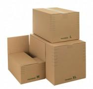 Faltkarton 330x220x 80-190mm, mit Automatikboden und variabler Höhe, für Din A4+