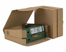 Ordner-Transport-Box für 50mm Ordner mit Steckverschluss, braun, 320x288x50mm