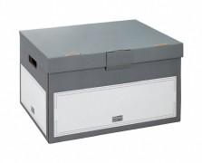 ARCHIV-CONTAINER XL mit Klappdeckel, 530x380x285mm, extra stabil, anthrazit