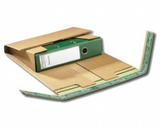 Ordnerversandverpackung für Rückenbreiten von 35-80mm, 320x290x -80, braun