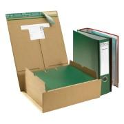 Ordnerversandverpackung für 2 Ordner A4 mit SK-Verschluss und Aufreißfaden braun