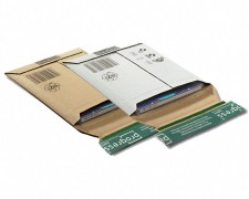 DISK-PACK Versandtasche, 145x190x -25mm, extrem stabil, für 1-2 CDs braun
