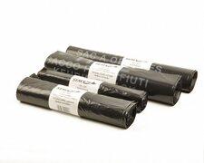 Müllbeutel 110 Liter, 38 + 32 x 110 cm, T80+ mit PP-Band, schwarz, 10 Stk.