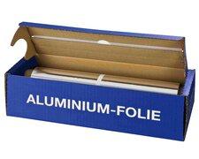 Alufolie in praktischer Spenderbox mit Abreiss-Schiene, 44 cm x 150 m, 11 µm