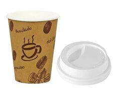 Kaffeebecher Premium Coffee to go mit Deckel, Pappe beschichtet 200 ml,  50 Stk.