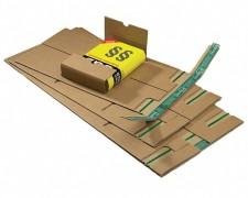 Universalverpackung B03.01 mit seitlichen Schutzlaschen, 230x162x 1-80mm, für C5