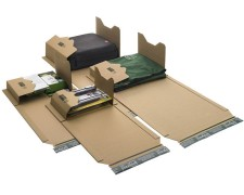 Universalverpackung PP B22.20 braun, 620x420x 1-54mm, für A2, SK-Verschluss