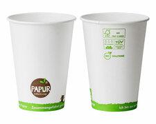 Bio Automatenbecher Kaffeebecher PAPUR ohne Kunststoff 70,3mm Ø 180 ml, 100 Stk.
