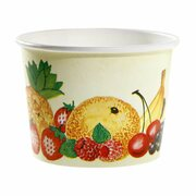 Eisbecher, Pappe rund 140 ml Ø 70mm, Höhe 50mm, Fruchtreigen, 100 Stk.