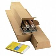 TRAPEZ Versandverpackung für gerollte Güter SK-Verschluss  430x145/108x75mm, A2