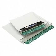 Vollpappe-Versandtasche V07.04 mit Querbefüllung, 348x246mm, C4, weiß
