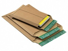 Wellpappe-Versandtasche W01.08, 335x500x -50mm, extrem stabil, für A3, braun