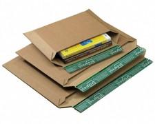 Wellpappe-Versandtasche W05.04 mit Querbefüllung, 330x230x-30mm, für C4, braun