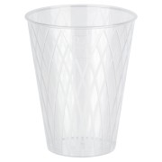 Trinkglas 0,2l | 200ml Raute-Design mit Eichstrich glasklar PS, 50 Stk.