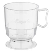 Royal Cup Henkeltasse Kaffeetasse 0,2l   200ml glasklar transparent, 12 Stk.
