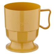 Royal Cup Henkeltasse Kaffeetasse 0,2l   200ml beige PS, 12 Stk.