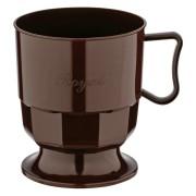 Royal Cup Henkeltasse Kaffeetasse 0,2l   200ml braun PS, 12 Stk.