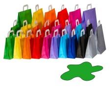 Papiertragetaschen Papiertaschen Flachhenkel 18x8x22cm grün, 70gr. 50 Stk.