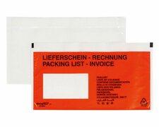 DOCUFIX Dokumententaschen *Lieferschein/Rechnung*, DIN Lang 240x115mm,  250 Stk.