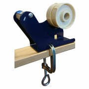 Tischabroller mit Doppelkern und Schraubzwinge für 12, 15, 25, 38, 50mm Bänder