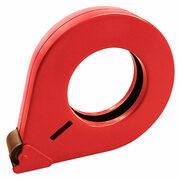 Handabroller aus Metall, robuste geschlossene Ausführung für 25mm Bänder