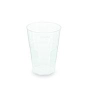 Mehrwegbecher Pfandbecher Cocktail PP klar Eichstrich 0,3 l  Ø 8 cm,  30 Stk.