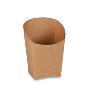 BIONATURE Wrapbecher braun mit Fettbarriere Recycling 3,9x7,5x10cm, 50 Stk.