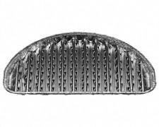 Alu-Grillpfannen Grillschalen BBQ halbrund 30,6 x 17cm, wiederverwendbar, 3 Stk.