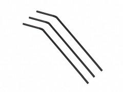 Trinkhalme Flexhalme schwarz, 240 mm Ø 5 mm, 250 Stk.
