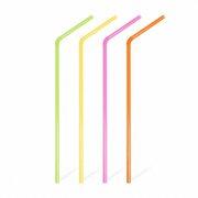 Trinkhalme Flexhalme Strohalme neon (flour) 240mm, Ø 5 mm, 1000 Stk.